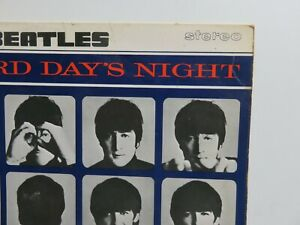 THE BEATLES  1964 UK  LP A HARD DAYS NIGHT  OUTLINED  STEREO  PRESS