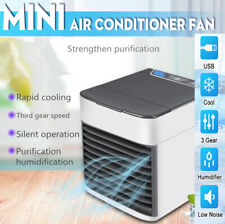 Mini Portable Air Conditioner Humidifier Purifier Personal Cooler Cooling Fan