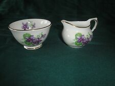 (2285) Vintage Child's Tea Set Sugar Bowl and Cream Pitcher HM