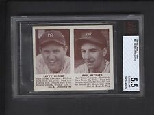 1941 Double Play #61 Lefty Gomez #62 Phil Rizzuto ROOKIE BVG Graded EX+ 5.5