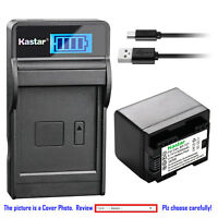 Kastar Battery LCD Charger for Canon BP-727 CG-700 Canon VIXIA HF R800 Camera