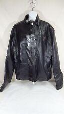 RGA Italia Reportage Black Faux Leather LastCollection Motorcycle Jacket SizeXXL
