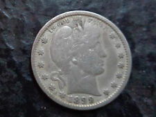 US Barber silver quarter coin 1899 VF