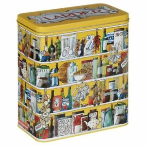 OFFICIAL EMMA BRIDGEWATER SETTING UP HOME LARDER TALL STORAGE TIN CONTAINER NEW