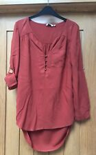 LADIES NEW LOOK RUST / BURNT ORANGE / GINGER BLOUSE TOP SIZE 10