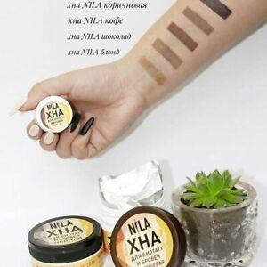 1x10g Sachet NILA Eyebrow&Biotatoo Black Brown Henna Beauty Hit Eyebrow Tinting