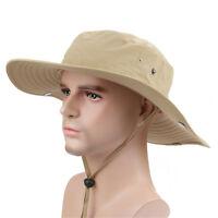 Summer Brim Sun Block Climbing Bucket Hat Outdoor Fishing Hats Quick Drying Cap