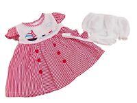 BNWT Baby Girls sailor summer dress set  pants /& hairband Newborn  0-3  3-6 mths