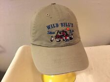 VTG WILD BILL'S SILVER LAKE MICHIGAN STRAPBACK DAD HAT CAP BLK SLOUCH ATV QUAD
