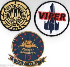 Battlestar Galactica Lot 3 ecussons brodés Viper BSG 75 viper's pilot patches