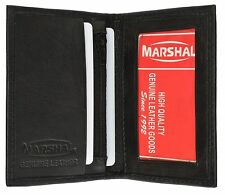 Black Men's Genuine Leather Bifold ID Credit Card Holder Wallet Zip FREE SHIP