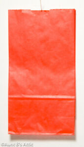 "Halloween Treat Bags Orange 7 1/2"" x 4"" Paper Candy/Treat Bags Of 25 Each Bulk"