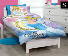 SINGLE BED DISNEY PRINCESS CINDERELLA BEAUTY SLEEP QUILT DOONA COVER, PILLOWCASE