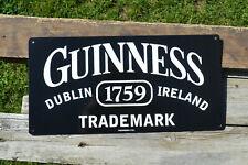Guinness Trademark Tin Metal Sign - Dublin, Ireland - Irish Dry Stout - Beer