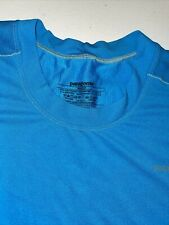 Patagonia Medium BlueAthletic Shirt Short Sleeve Baselayer Hiking