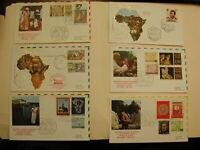 Pope John Paul II-The Golden Series-Africa, Nigeria-15 Postcard Envelopes 1982
