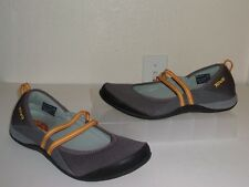 81500097133 Teva Gray Grayish Brown Mary Jane Loafers Size 8.5 1 2 Shoes Flats Slip Ons