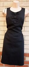 NEW LOOK BLACK CHECK QUILTED BOW TULIP BODYCON TUBE PENCIL FORMAL PARTY DRESS 14