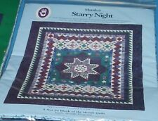 Queen Size Quilt Kit - Marti Michell's Starry Night - Patterns & Fabrics 84x101