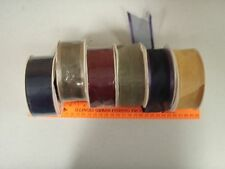 "90+ yds 1 1/2"" sheer ribbon- Assorted colors  navy, gold, burgundy, green"