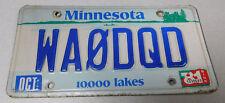 1981 Minnesota ham amateur radio license plate