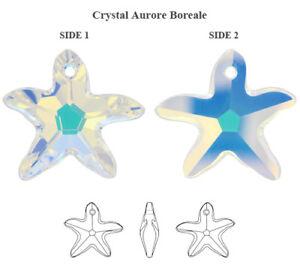 Genuine SWAROVSKI 6721 Starfish Crystals Pendants * Many Sizes & Colors