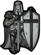 LARGE ARMOR of GOD Crusader SPARTAN MOTORCYCLE BIKER JACKET  MILITARY BACK PATCH