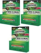 3 Pack SPECTRACIDE JAPANESE BEETLE TRAP BAG A BUG REPLACEMENT LURE BAIT 6541692