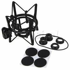 Large Plastic Square Spider Shock Mount for Microphone Recording Black