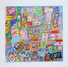 James Rizzi The big Apple is big on broadway - Farblithografie