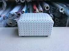 footstool / pouffe upholstered in Spotty fabric
