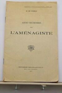 445 - Aide-mémoire de l'aménagiste 1926 - H.Coincy - Imp. Berger Levrault