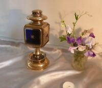 Unusual 19th Century French Brass Coaching Lamp with Stand-One Off