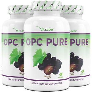 OPC PURE - Traubenkernextrakt 300-900 Kapseln Hochdosiert + 100%  Vegan