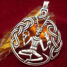 Amulett Cernunnos Kelten Celtic 925 Silber Anhänger Pendant Silver