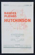 Brochure 1928 PNEU HUTCHINSON remouleur d'après MICH automobilia french catalog