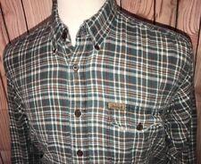 Vintage WOOLRICH Distressed Lightweight Flannel Plaid Shirt Plaid Sz Large