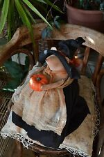 Witch Mouse With a Pumpkin. Handmade collectible toy vintage decor interior doll
