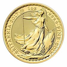 2017 Royal British Mint Britannia 1 oz Gold Coin | Direct From Mint Tube