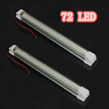 2x 12V 72 LED Car Interior White Strip Lights Bar Lamp Van Caravan❃ON OFF Switch