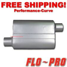 """2 Chamber Performance Street Muffler FLO-PRO Super V - 2.5"""" O/O - V42543"""