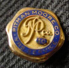 Pin - 10K Gold - Dyer - Pitman Moore Co, 10 YRS Service - 1