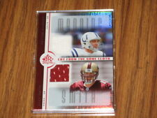 2005 REFLECTIONS MANNING/ALEX SMITH ROOKIE CUT FROM THE SAME CLOTH JERSEY CARD