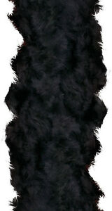 Black 100% Feather Boa 140GM Over 6 ft Costume Accessory 40s Burlesque Showgirl