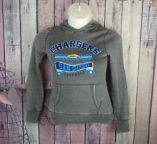 NWT Jrs size S(3/5) gray san diego Chargers NFL pullover hoodie X25