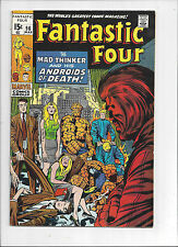 The Fantastic Four #96/Silver Age Marvel Comic Book/Mad Thinker/VF