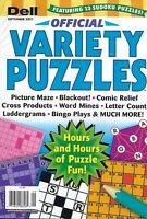 Dell Magazine Official Variety Puzzle Picture Maze Comic Relief Word Mines Bingo