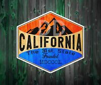 "California The 31 St. State Vinyl Decal Mountains Sticker 3"" x 2 7/8"""