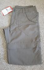 North Face RRP79 Horizon Convertible Trousers Walk 8 Zip Shorts Brown Womens 4