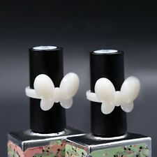 Butterfly Flower Display Ring Pops Nail Polish Bottle Top Natural Clear Clip On